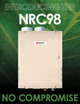 Noritz Introduces Eco-Friendly NRC98 Tankless Water Heater, Featuring Higher Efficiency, Easier PVC Venting