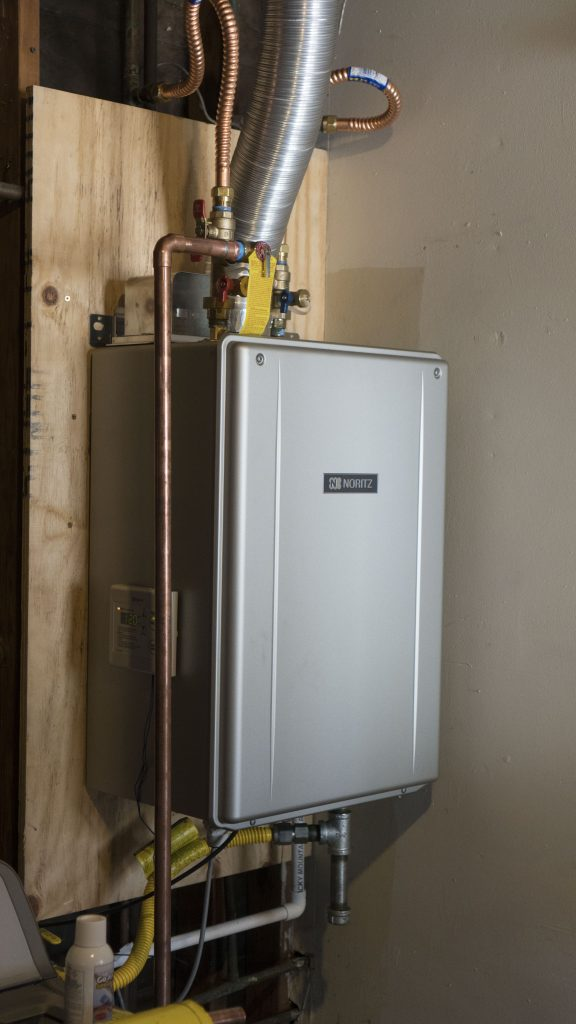 noritz low-nox tankless water heater exceeds california's strict